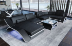 Leather Sectional Sofa Malibu U shape with Smart Space Console (additionally available)