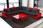 Fabric Sofa San Antonio L shape in black - Mineva14