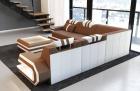 Fabric Sofa San Antonio L shape in light-brown - Mineva5