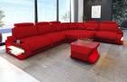 Fabric sectional corner Sofa Bel Air L shape in red - Mineva20