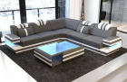 Fabric Sofa San Antonio L shape in dark-grey - Mineva15