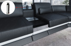 Multi use Smart Space Console in chrome with integrated power sockets and USB ports - additionally available