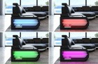 Detail picture of the LED lights on the Bel Air sectional sofa (optionally available)