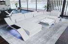 Leather Sectional Sofa Malibu U Shape white