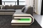 Luxury Sectional Sofa San Antonio L with sofa bed grey-white