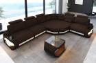 Fabric sectional corner Sofa Bel Air L shape in brown - Mineva7