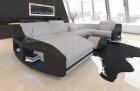 Fabric Sofa Palm Beach U Shape in grey - Mineva12