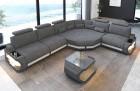 Fabric sectional corner Sofa Bel Air L shape in grey - Hugo5