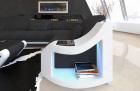Fabric Sofa Palm Beach U Shape in black - Hugo14