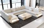 Luxury Sofa San Antonio U Shaped beige-white