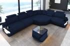 Fabric sectional corner Sofa Bel Air L shape in dark-blue - Mineva17