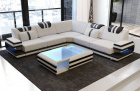 Fabric Sofa San Antonio L shape in ivory - Hugo2