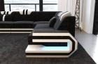 Fabric Sofa San Antonio L shape in dark-grey - Hugo13