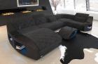 Fabric Sofa Palm Beach U Shape in black-grey - Hugo12
