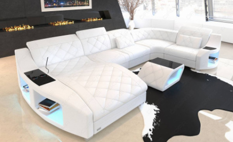 Palm Beach Leather Sectional Sofa, Designer Sectional Sofas